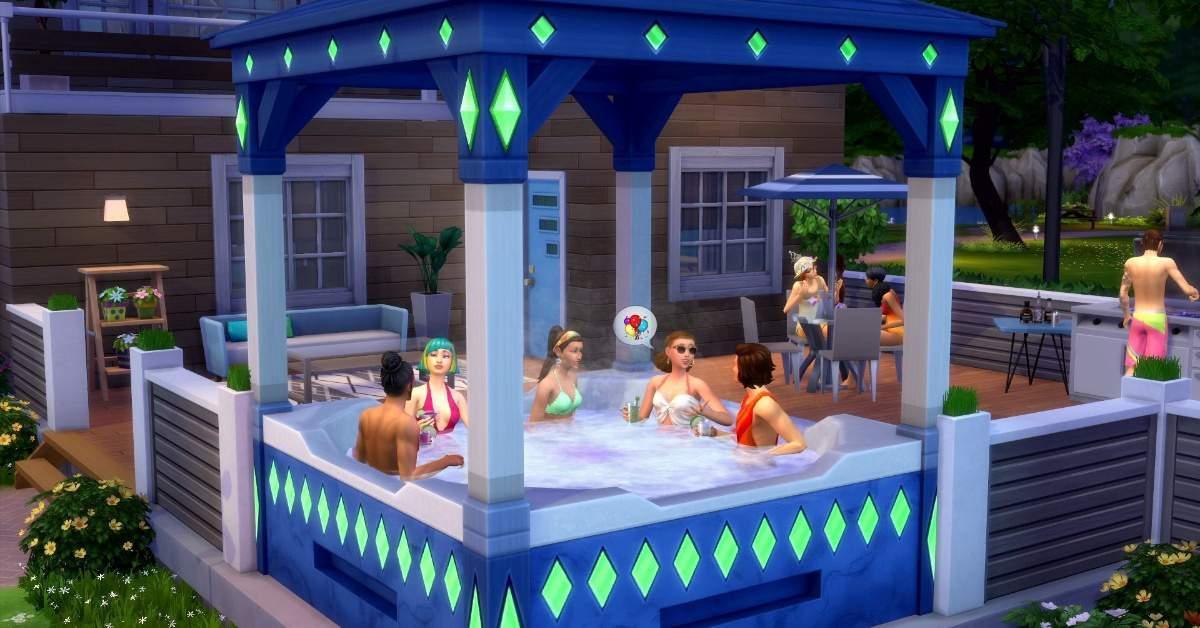 The Sims hot tub