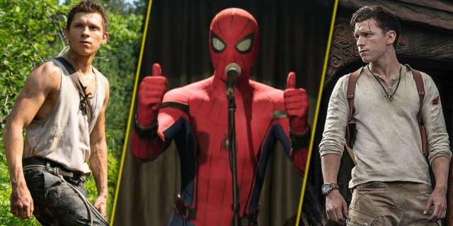 tom holland spider-man 3 uncharted chaos walking