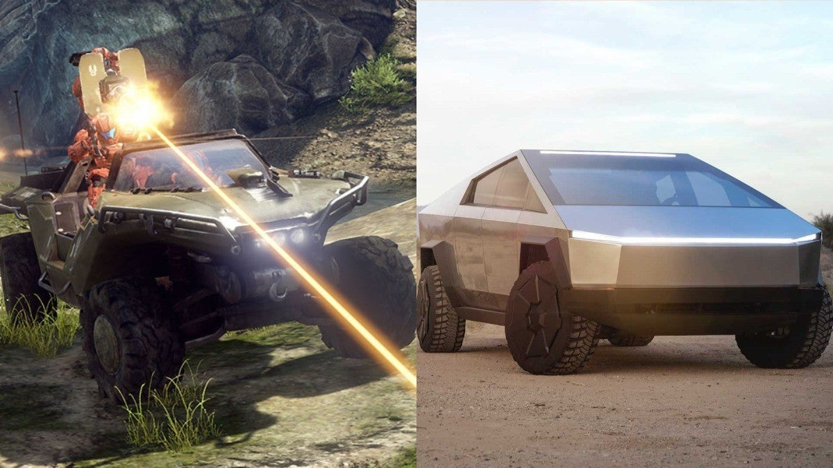 Xbox Halo Tesla Cybertruck Warthog