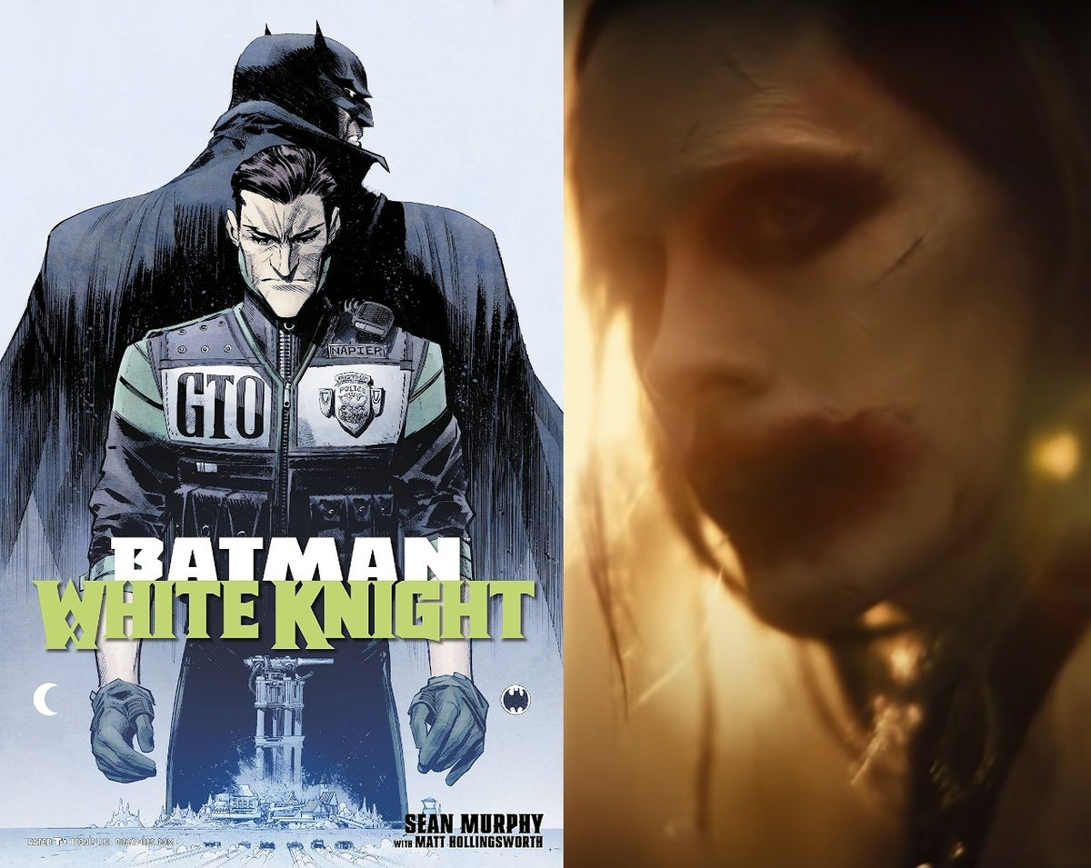 Zack Snyder Justice League Joker Scene Batman White Knight Reference Easter Eggs