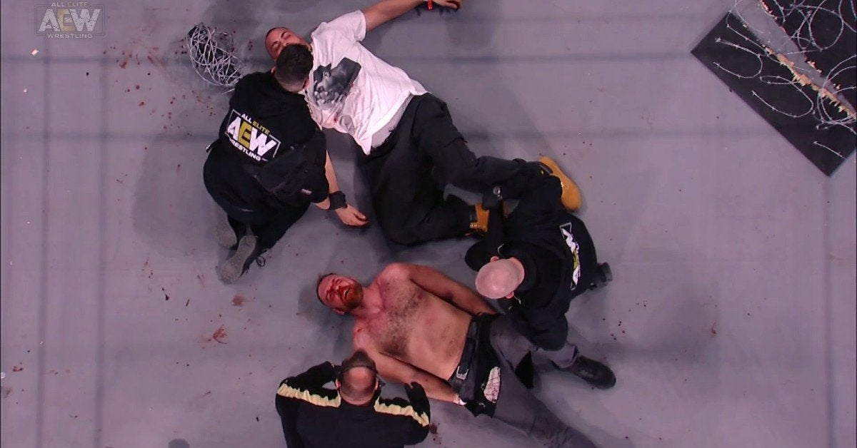 AEW-Jon-Moxley-Exploding-Barbed-Wire-Deathmatch