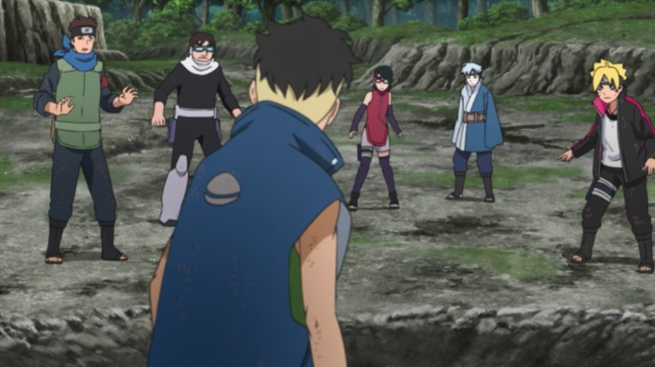 Boruto Anime 188 Team 7 First S Rank Mission Kawaki