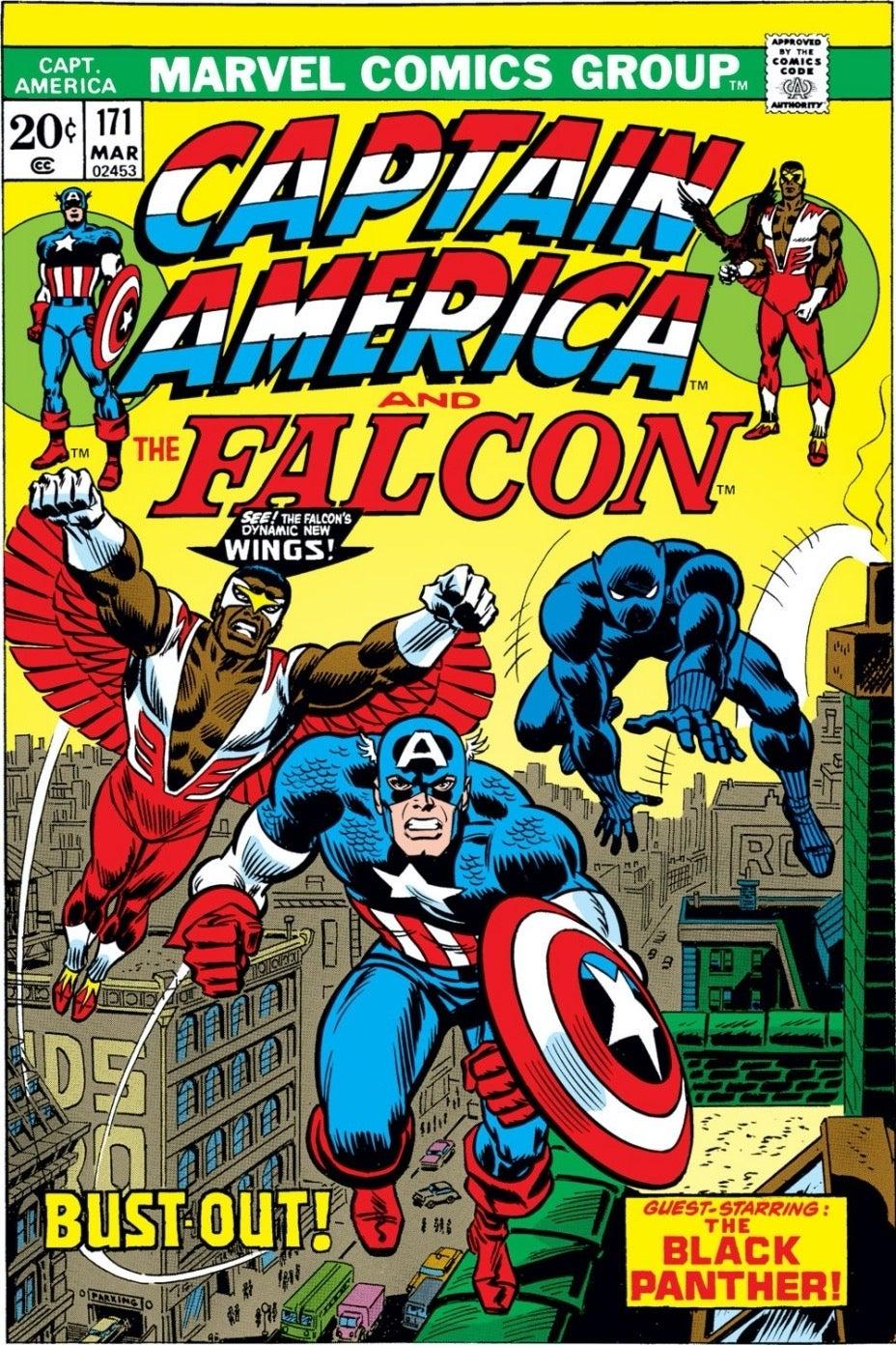 Captain America 171_Falcon Flies