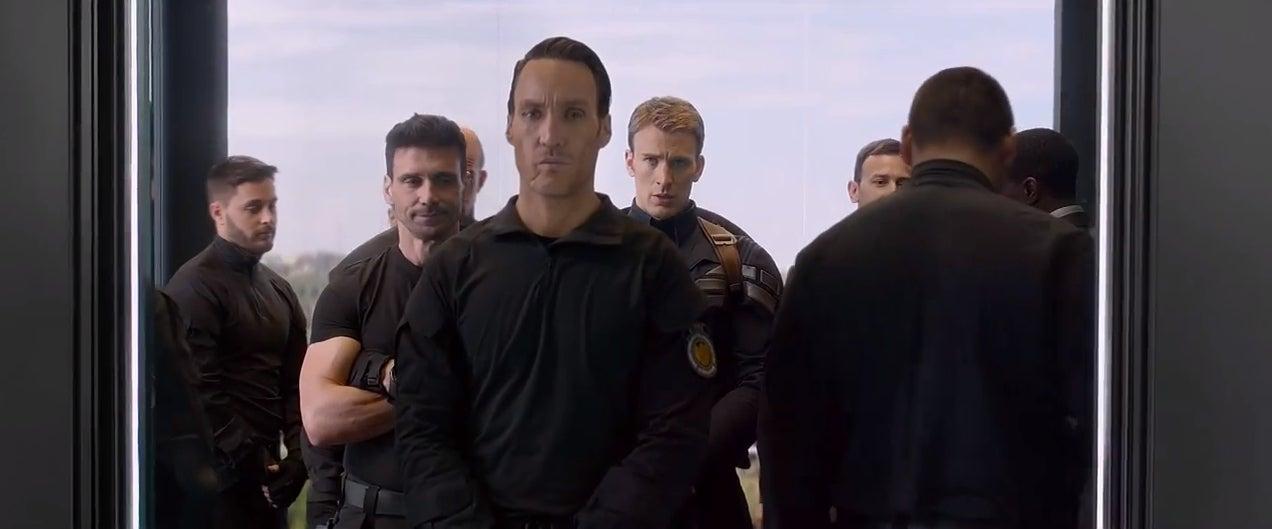 captain america elevator scene