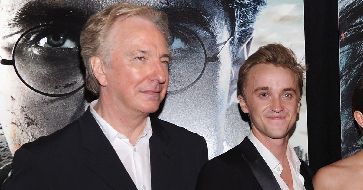 harry potter tom felton alan rickman