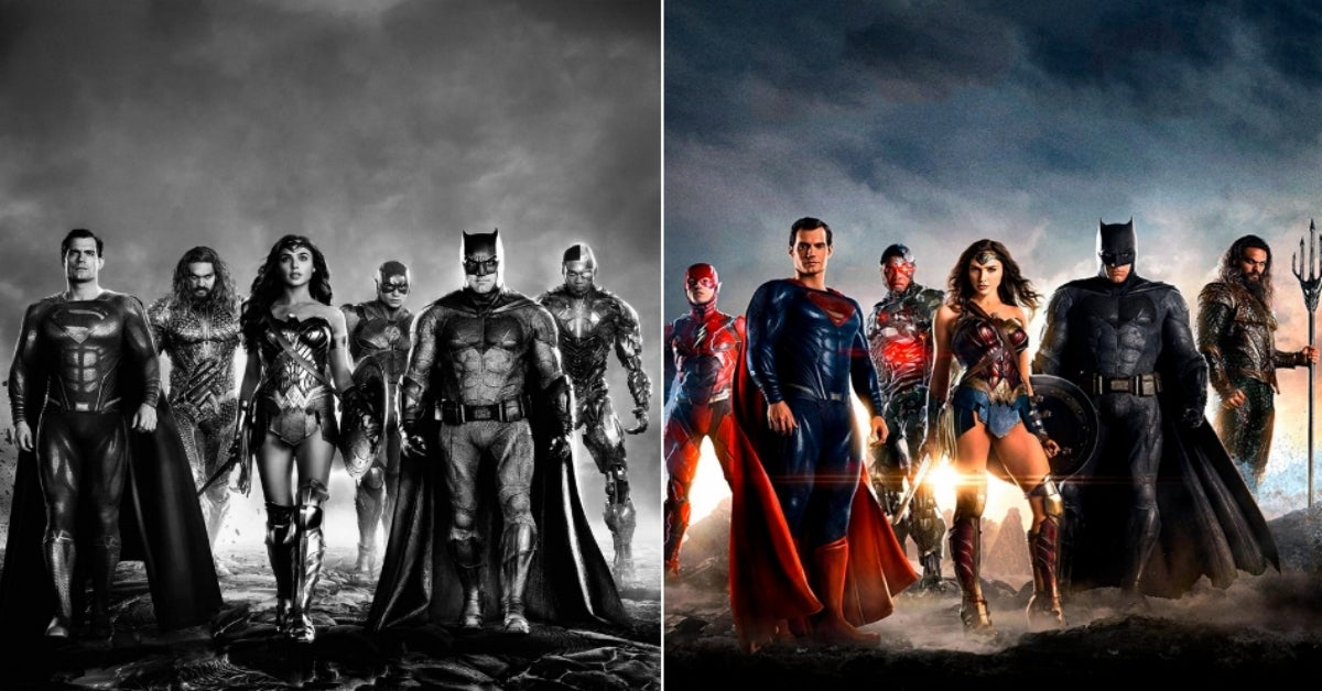 Justice League 2021 vs Justice League 2017