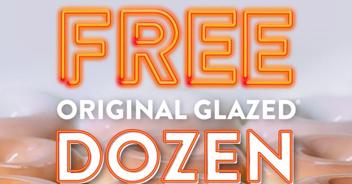 krispy kreme free dozen