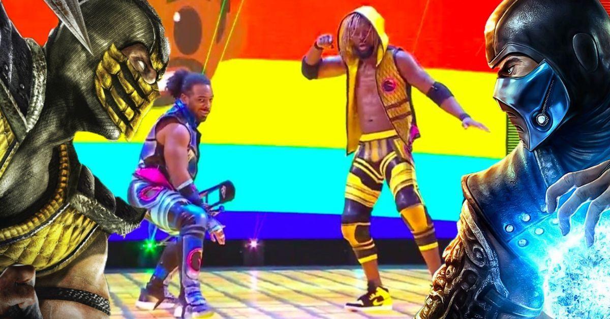 New Day Mortal Kombat Scorpion Sub-Zero Gear WWE Raw