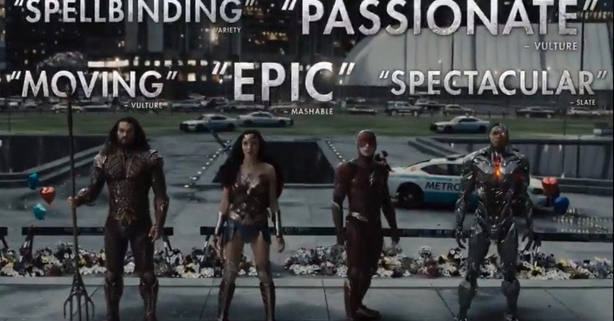 snyder justice league critical tv spot