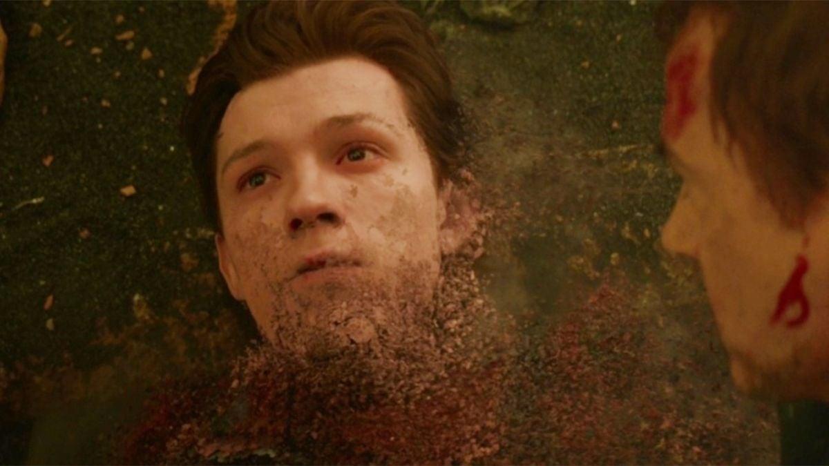 spider man dusting avengers infinity war