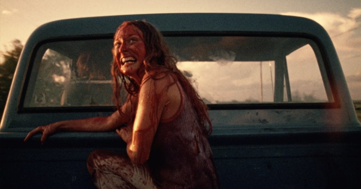 texas chainsaw massacre marilyn burns sally ending truck