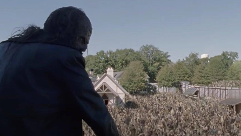 The Walking Dead Alexandria walkers