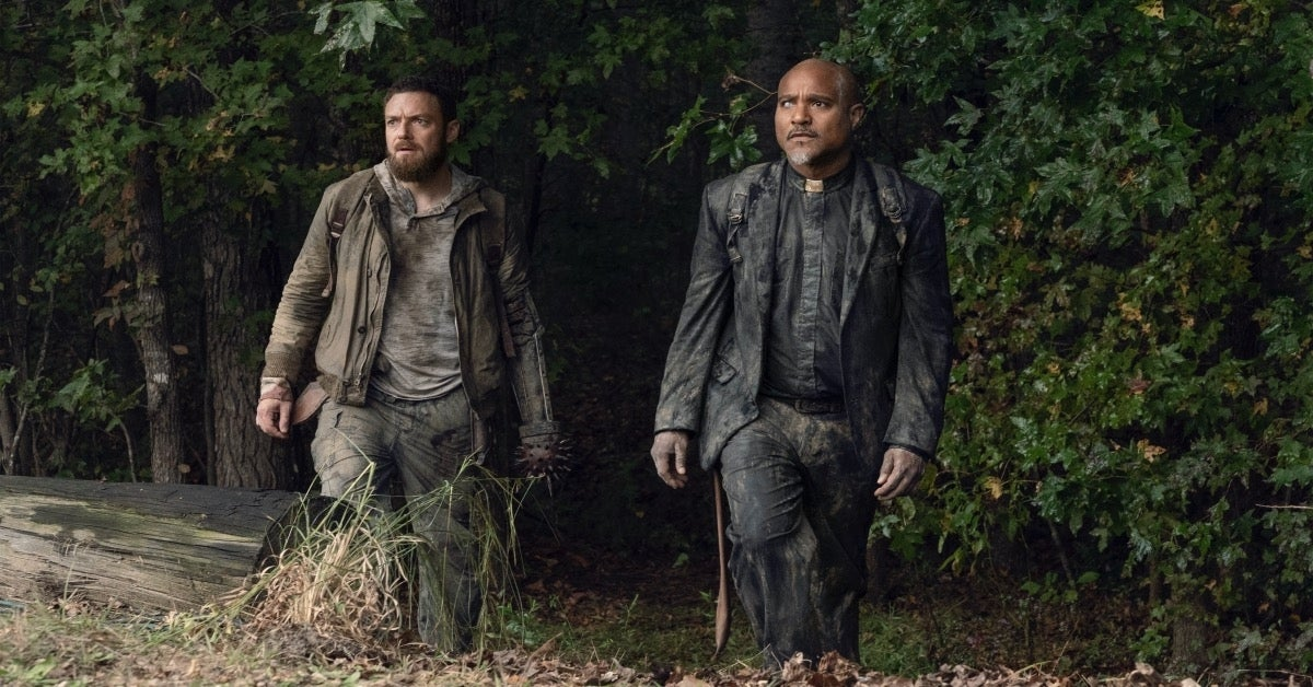 The Walking Dead Father Gabriel and Aaron Seth Gilliam Ross Marquand