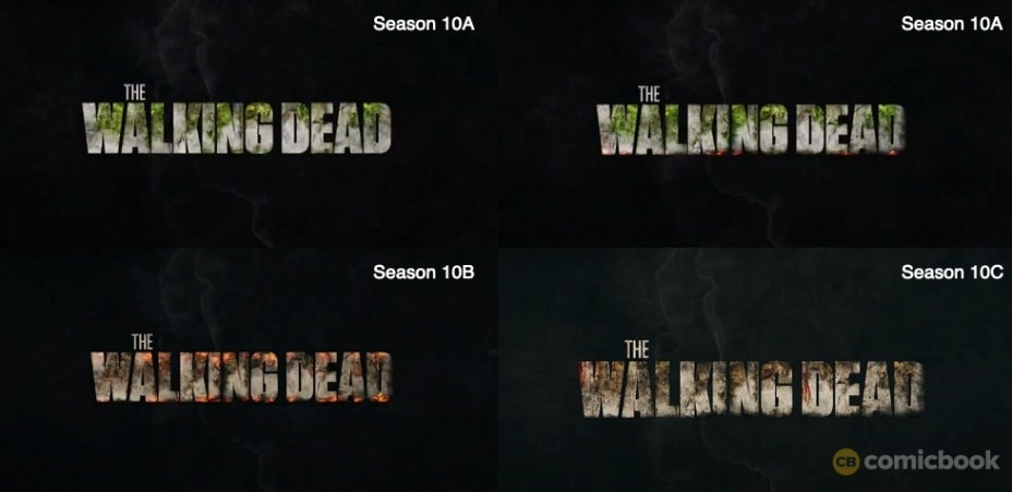 The Walking Dead new logo Season 10