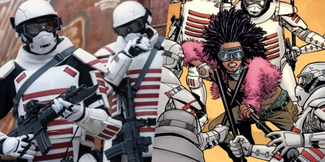 The Walking Dead white armor soldiers Commonwealth comicbookcom