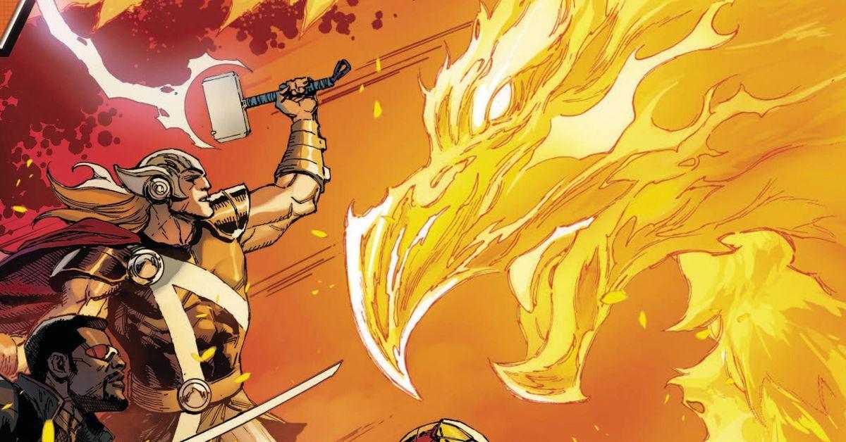 thor and phoenix avengers marvel