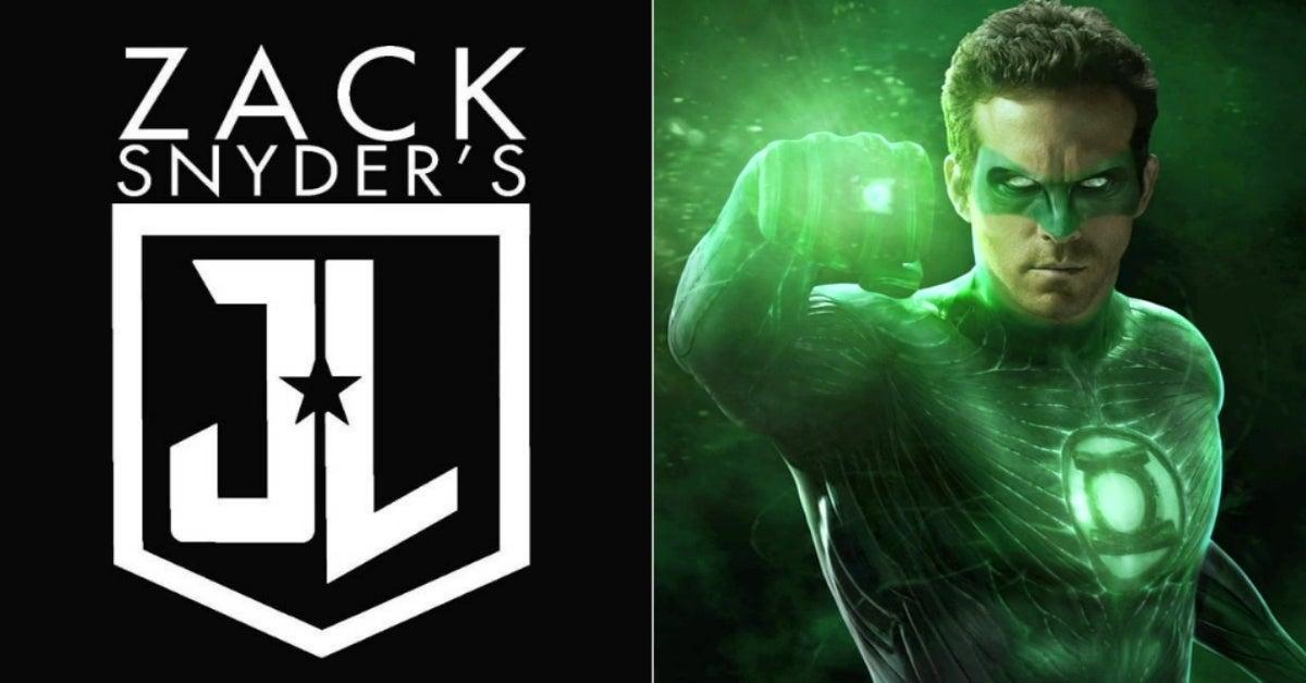 Zack Snyder's Justice League Ryan Reynolds Green Lantern