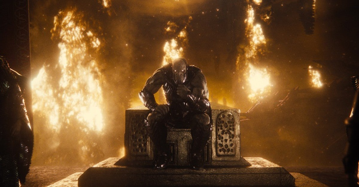 Zack Snyders Justice League Darkseid On Throne