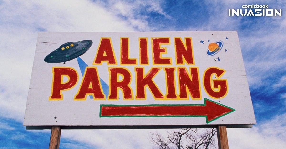 alien parking comicbook invasion