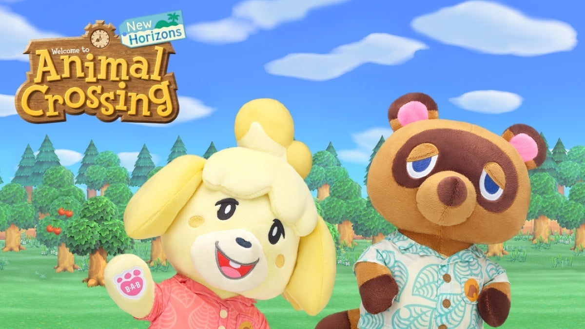 animal crossing build a bear new cropped hed