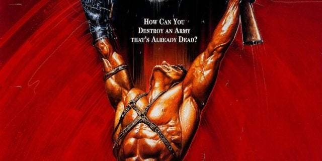 army of darkness red Schwarzenegger poster