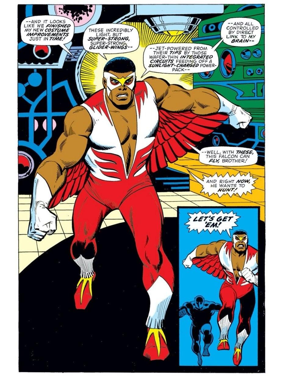 Captain America 170 Falcon's wings