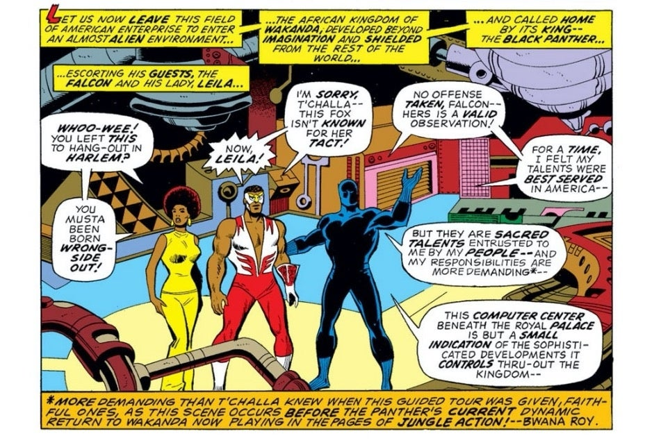 Captain America issue 170 Falcon Black Panther