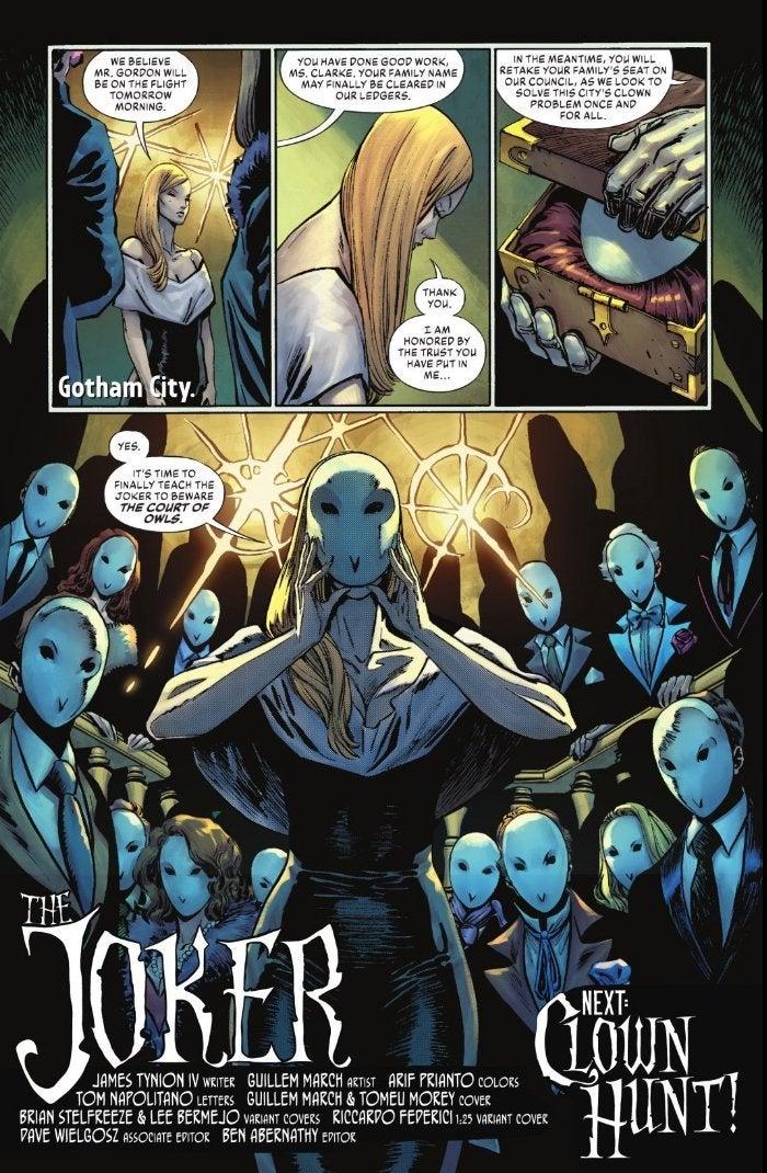 DC Joker 2 Spoilers Court of Owls Returns