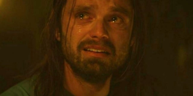 falcon winter soldier bucky crying