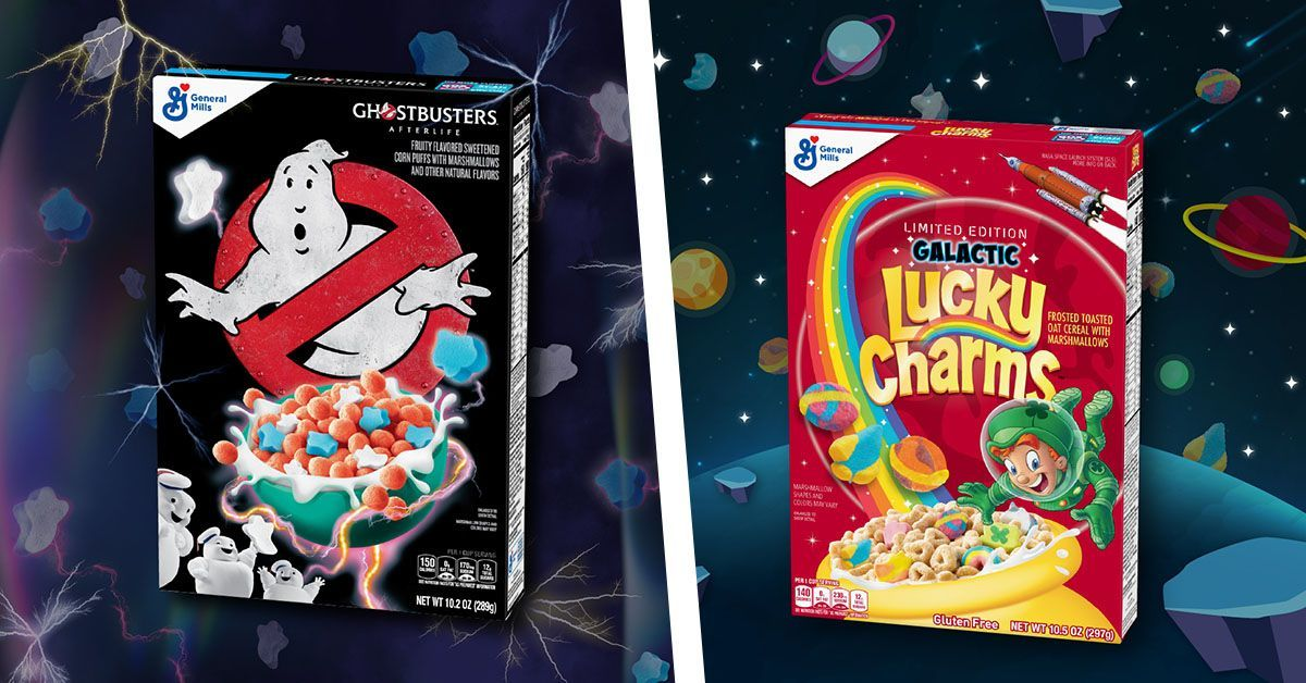 ghostbusters galactic lucky charms cereal general mills