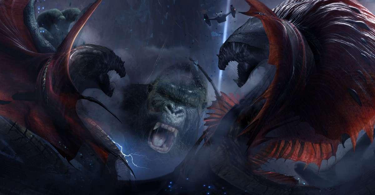 Godzilla vs Kong Concept Art Rage