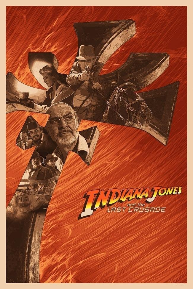 indiana jones last crusade poster