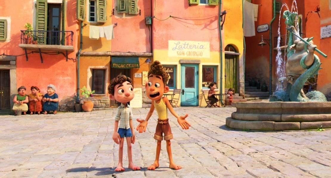 luca pixar town piazza italy