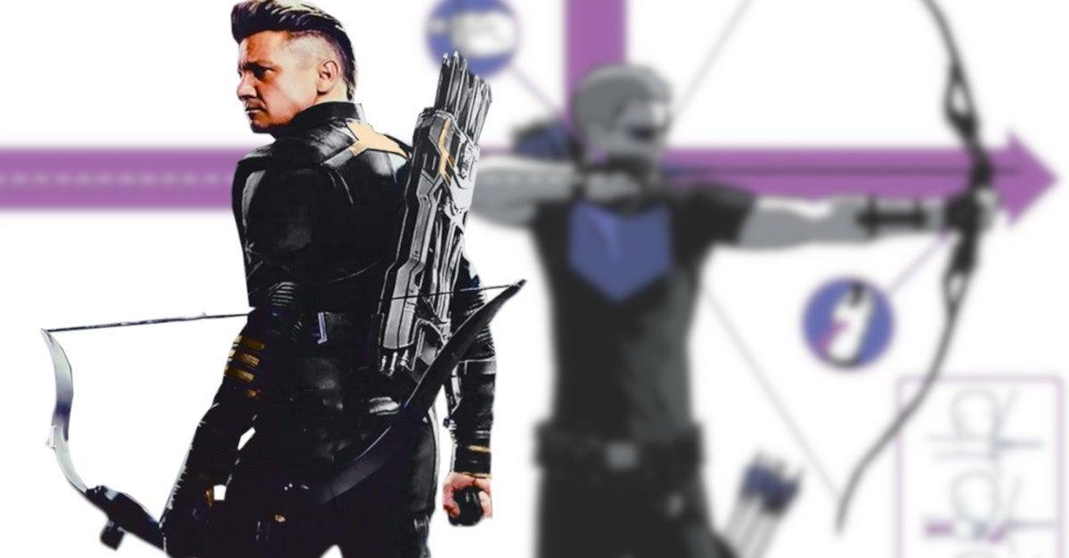 Marvel Hawkeye TV Series Jeremy Renner New Costume Suit Set Photos