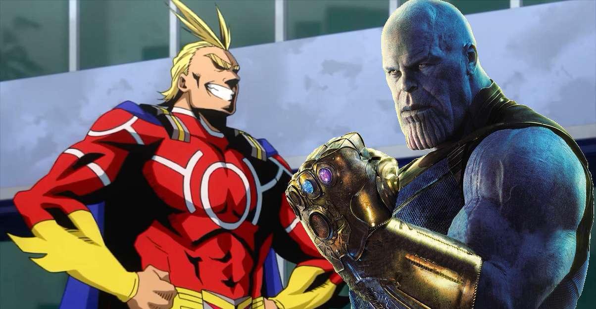 My Hero Academia All Might Thanos