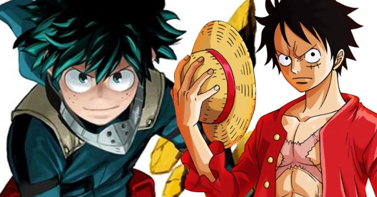 My Hero Academia Izuku Midoriya One Piece Luffy