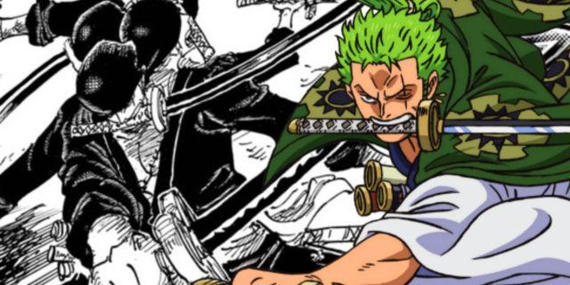 One Piece Zoro Conqueror's Haki Kaido Fight Spoilers Manga