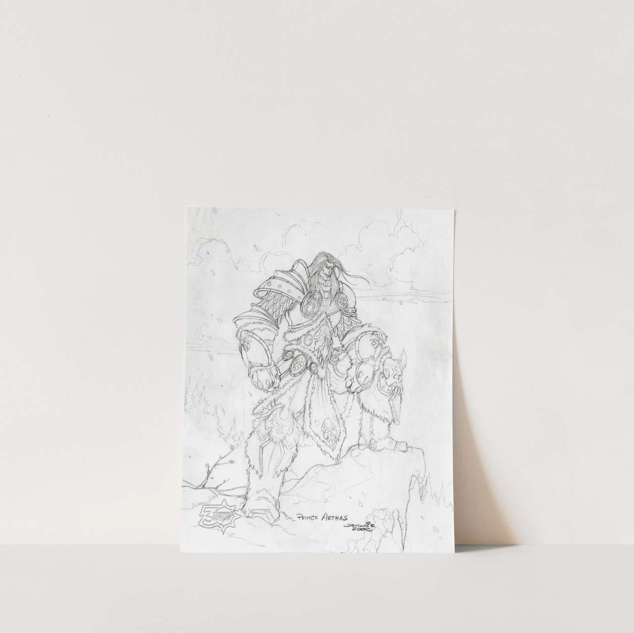"""Prince Arthas Concept Art Print 8"""" x 10"""", From the Vault - Limited Release 2"""