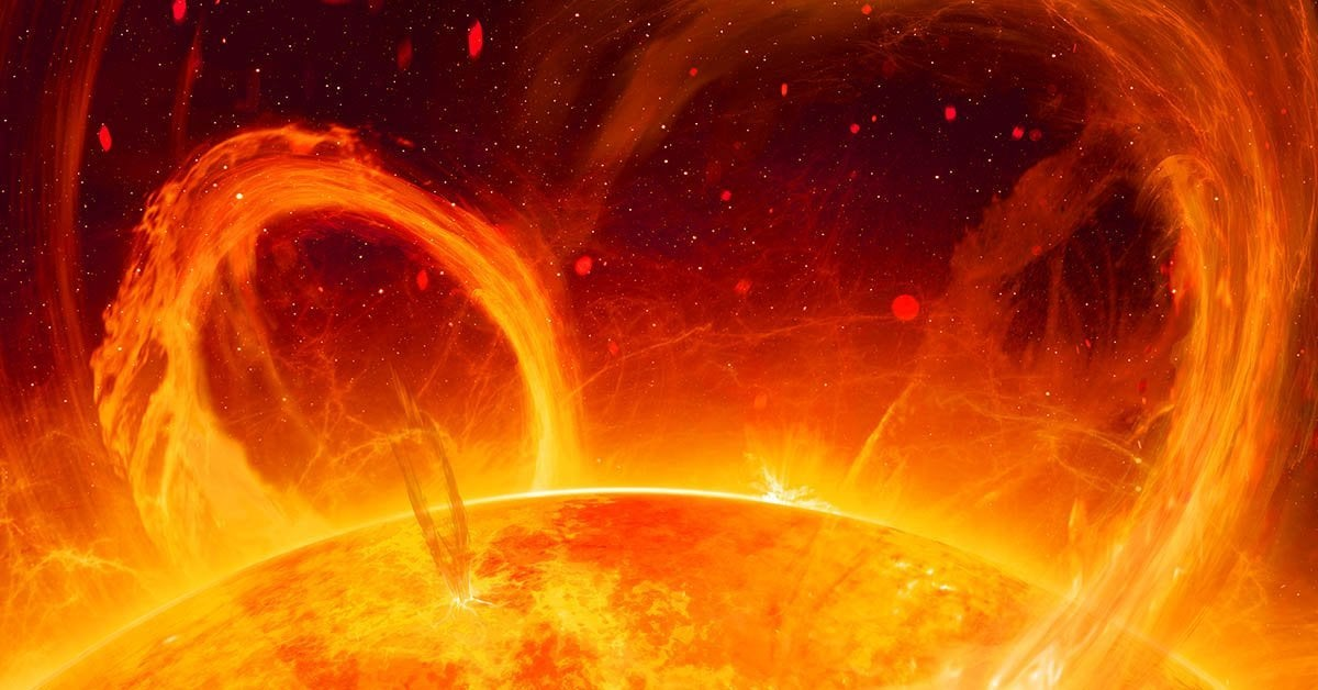 solar flare getty images