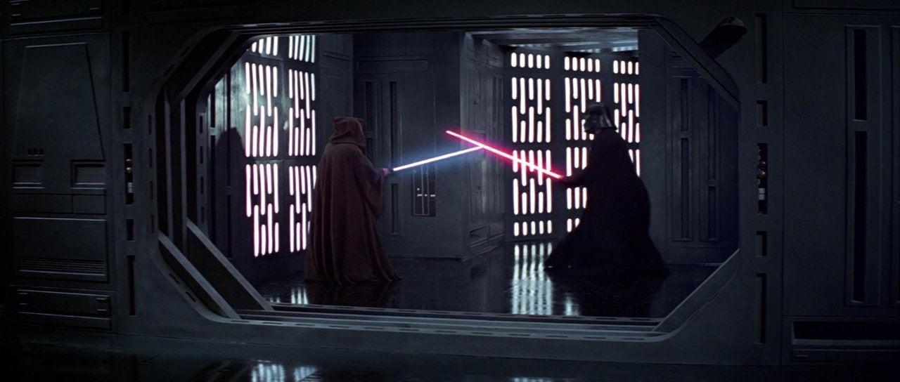 star wars a new hope darth vader obi wan duel