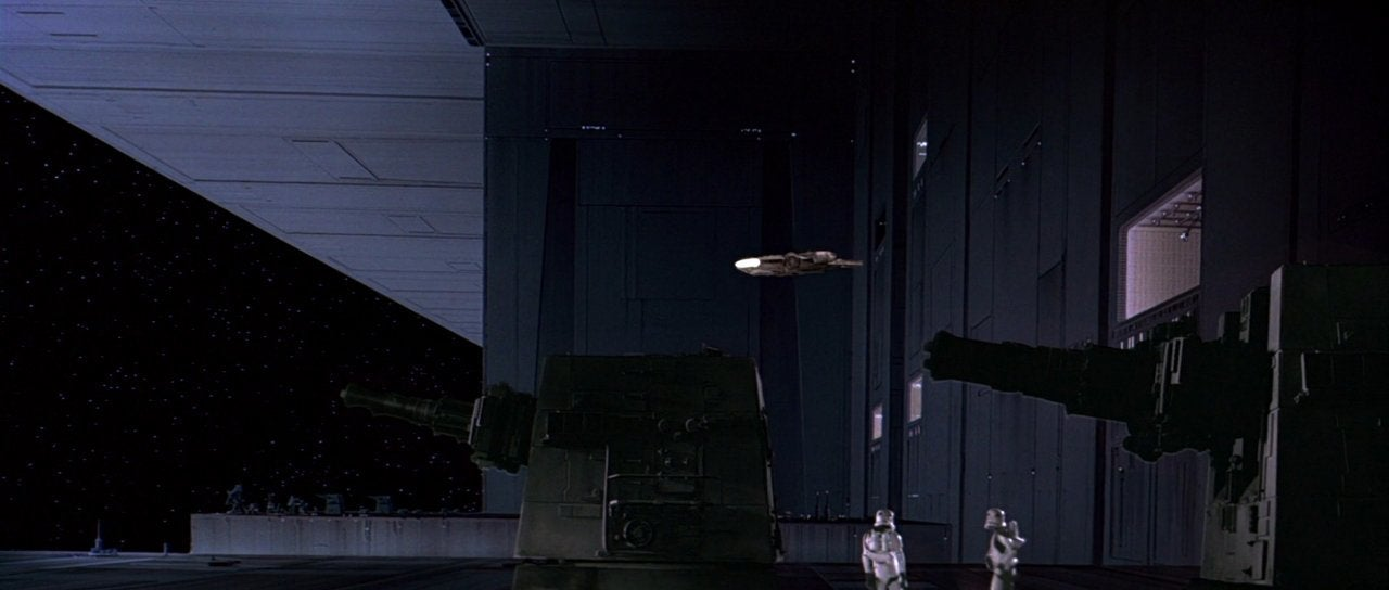 star wars a new hope millennium falcon death star