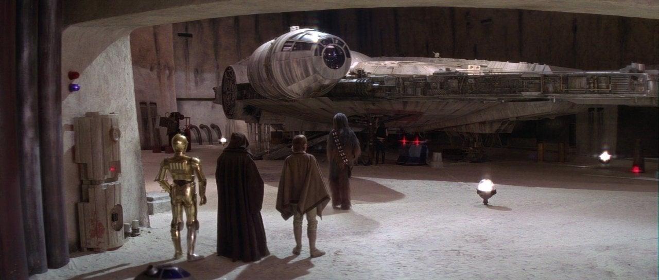 star wars a new hope mos eisley millennium falcon