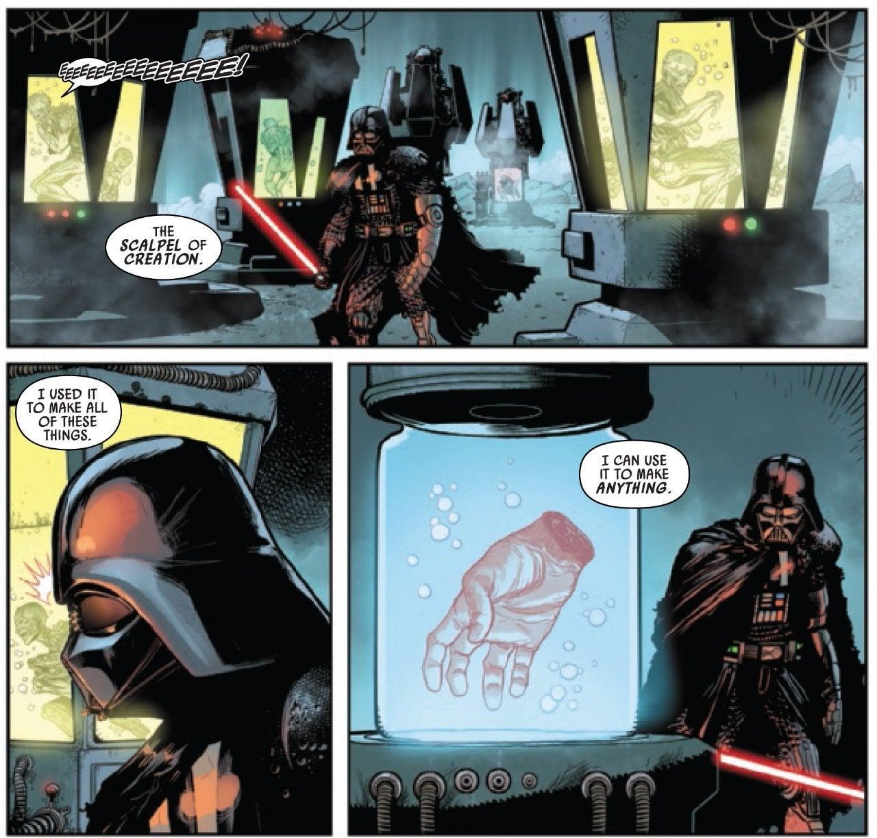star wars darth vader comic luke skywalker hand palpatine exegol