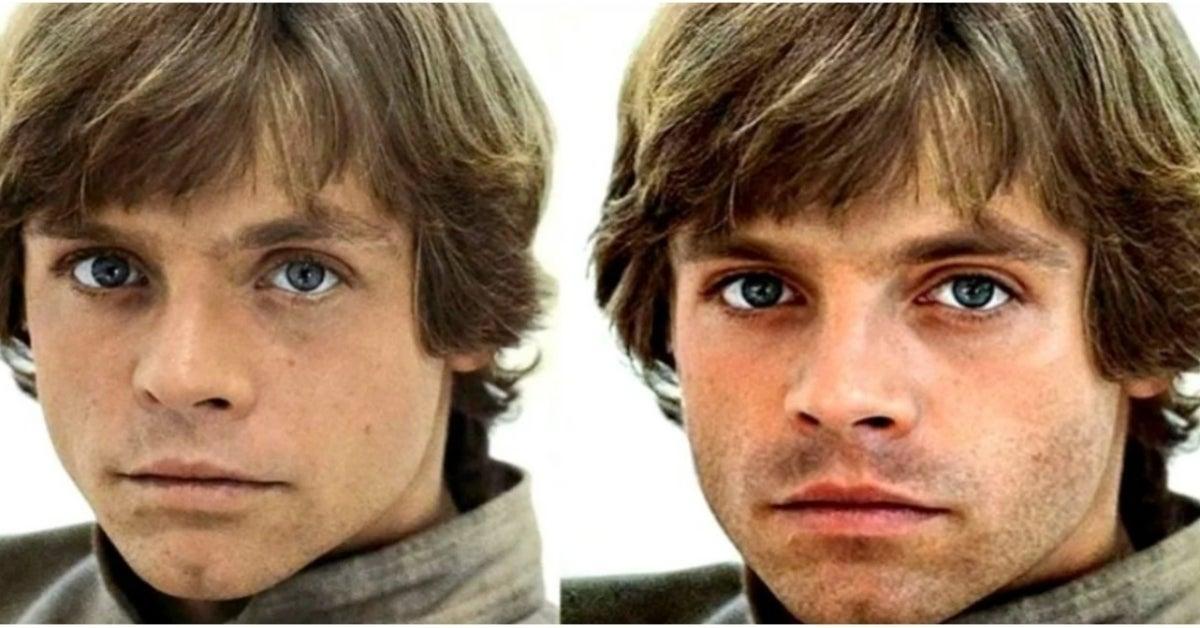 Star Wars Mark Hamill Sebastian Stan Luke Skywalker