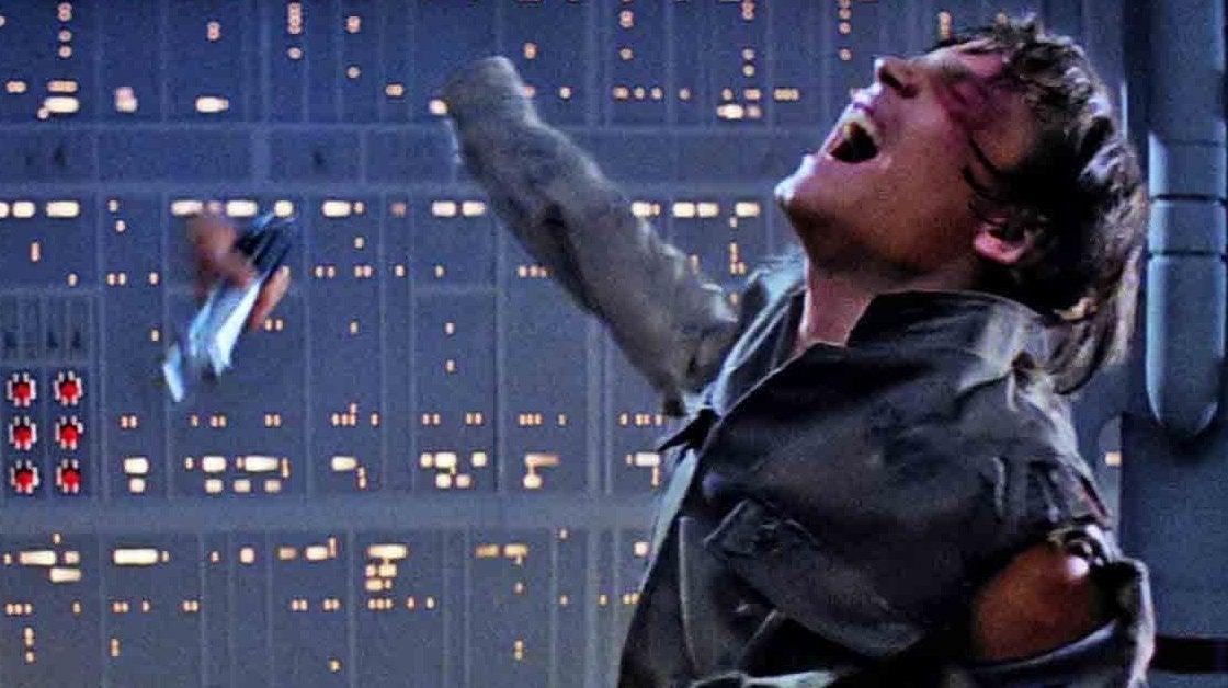 star wars the empire strikes back luke skywalker hand scene lightsaber