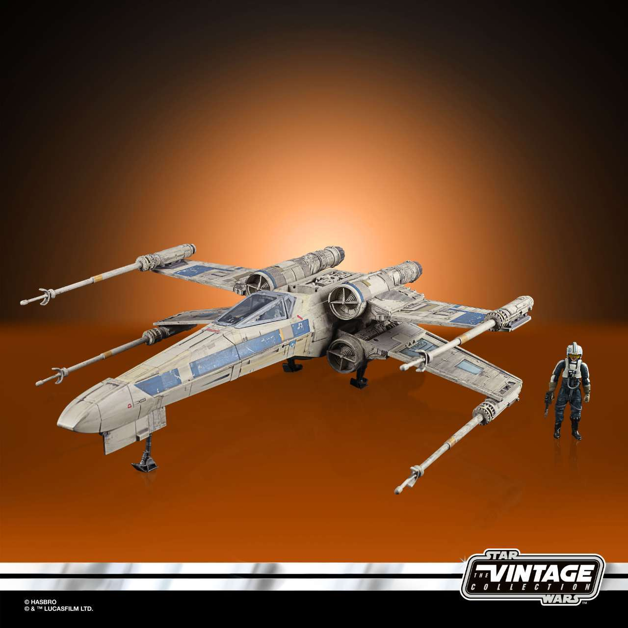 STAR WARS THE VINTAGE COLLECTION ANTOC MERRICK S X-WING FIGHTER Vehicle and Figure - oop 7