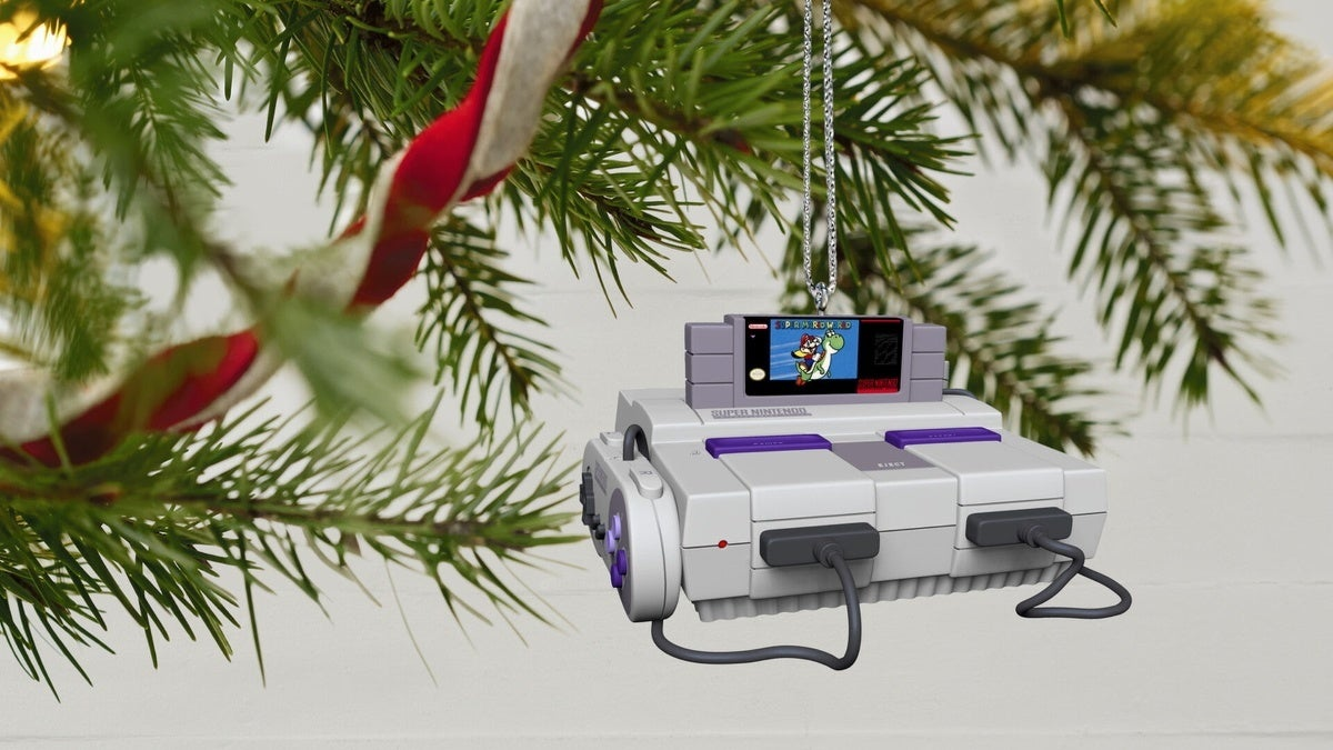 super nintendo ornament new cropped hed
