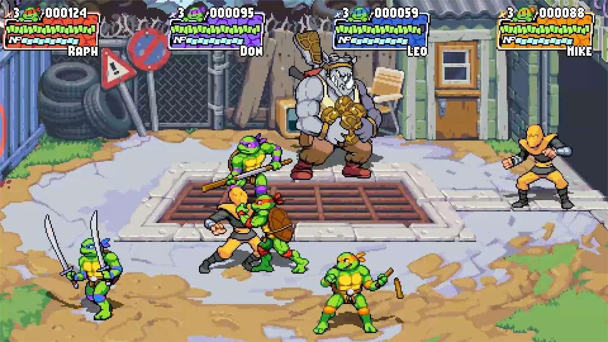 Teenage Mutant Ninja Turtles Shredder's Revenge Bebop Rocksteady