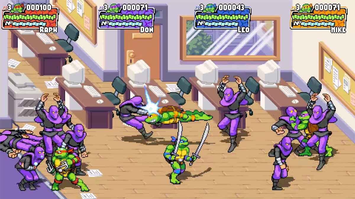 Teenage Mutant Ninja Turtles Shredder's Revenge Screenshot Foot Soldiers