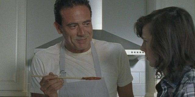 The Walking Dead Negan spaghetti Jeffrey Dean Morgan